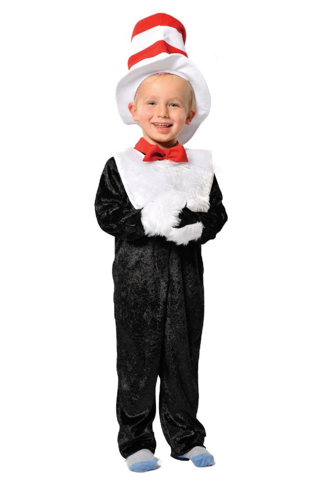 Childrens Kids Boys Girls Cat In The Hat Dr Seuss Fancy Dress Up Costume